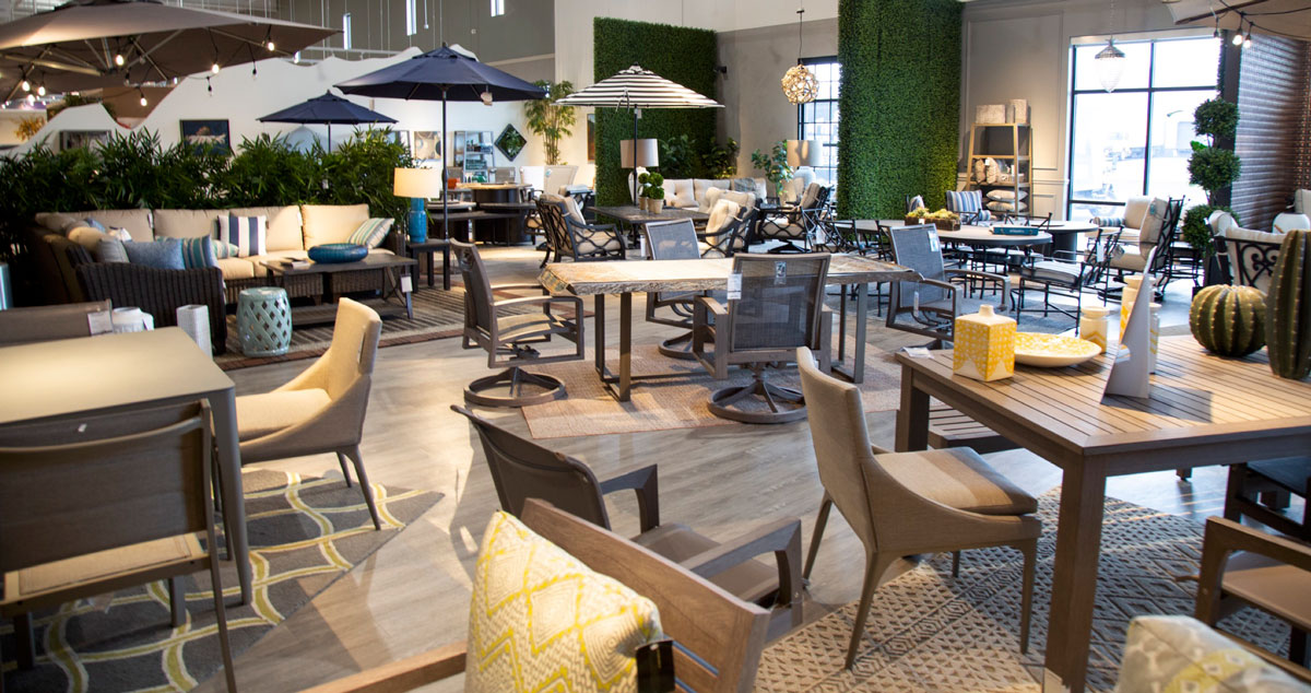 Patio Furniture Selection at the Showroom by Furniture Row