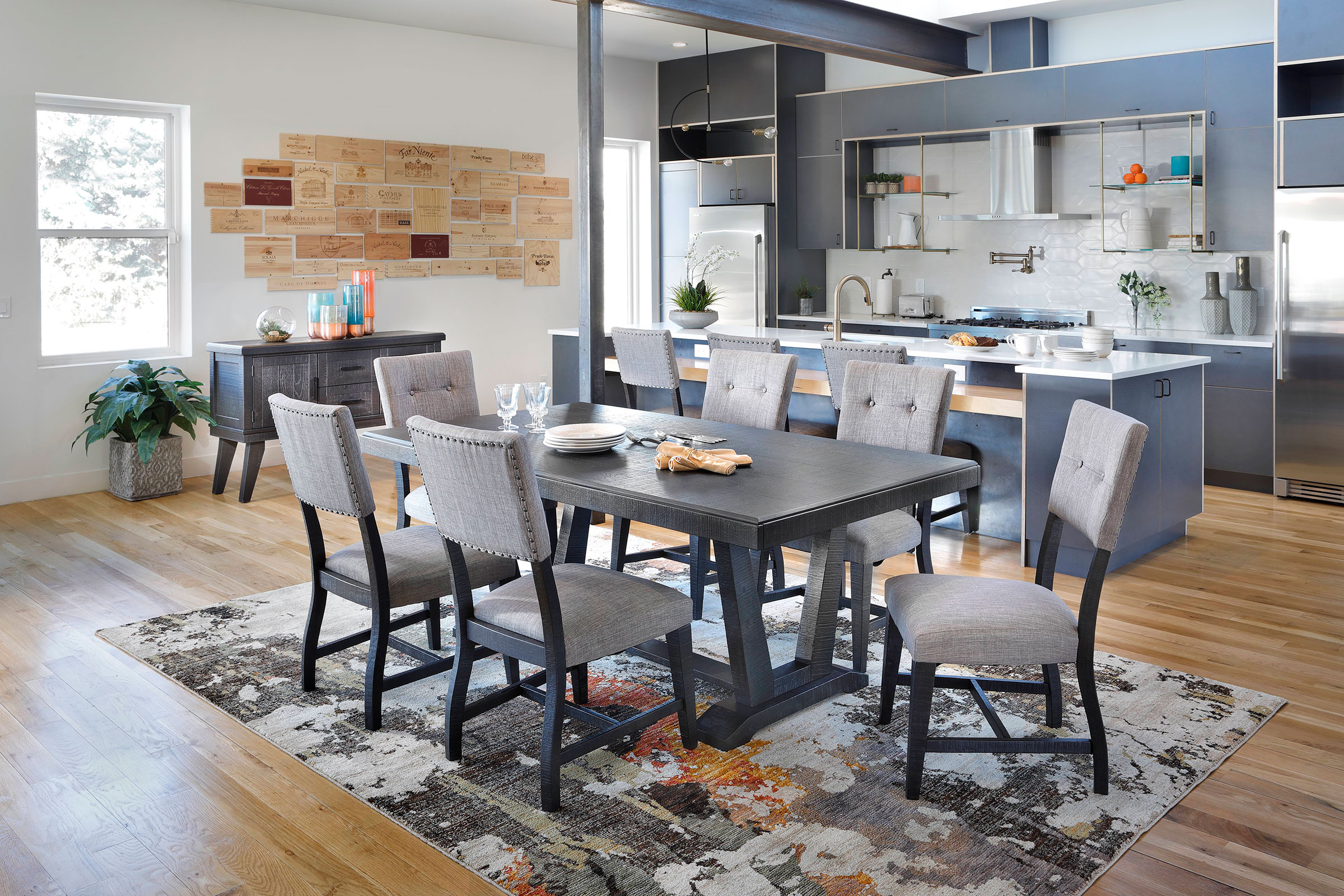 Modern Dining with Castle Rock Dining Set