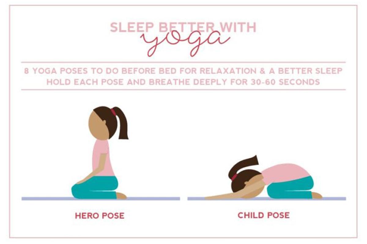 Sleep better with yoga image